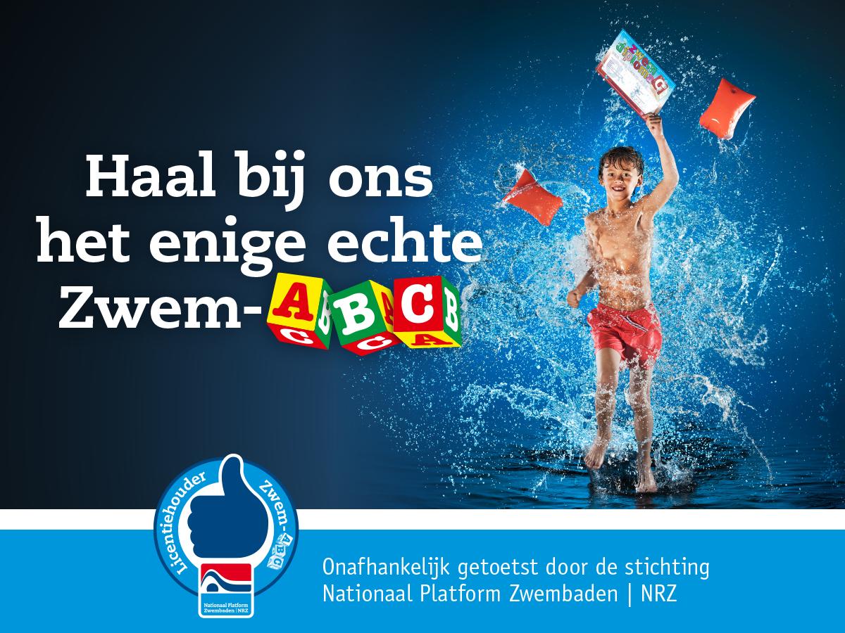 haal bij ons het enige echte zwem ABC